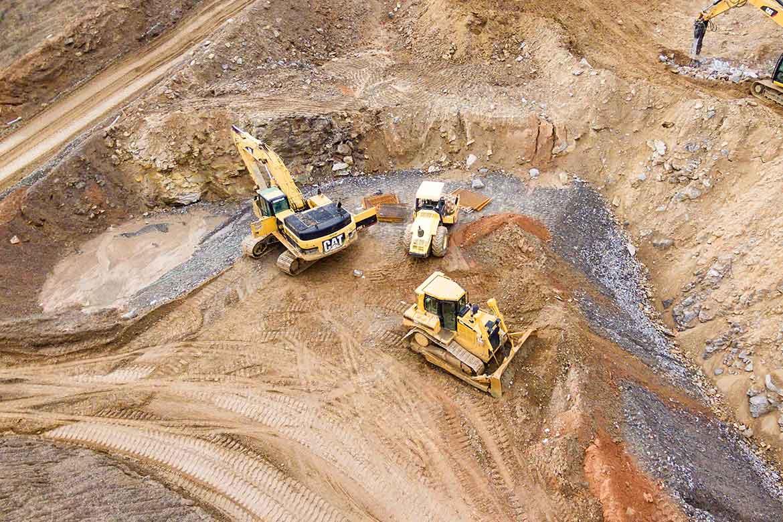 construction site excavation work