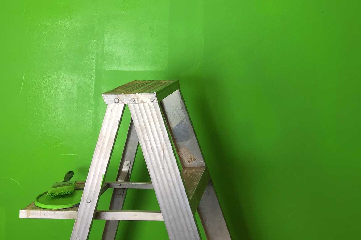 Paint from ladder