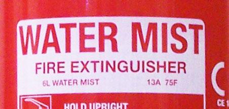 Water mist type fire extinguisher