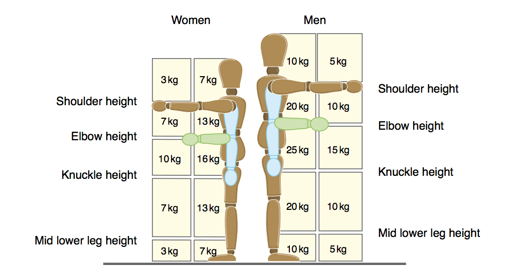 manual handling weight guidelines
