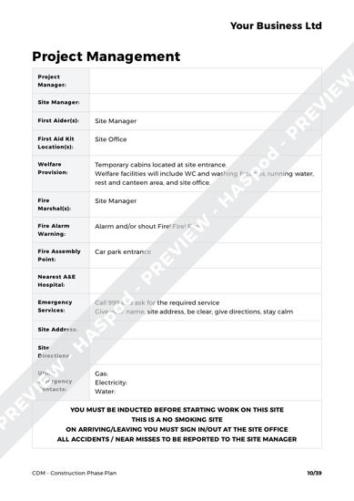 CDM Construction Phase Plan image 4