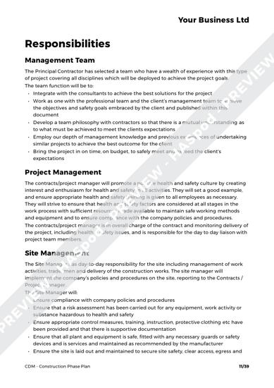 CDM Construction Phase Plan image 5