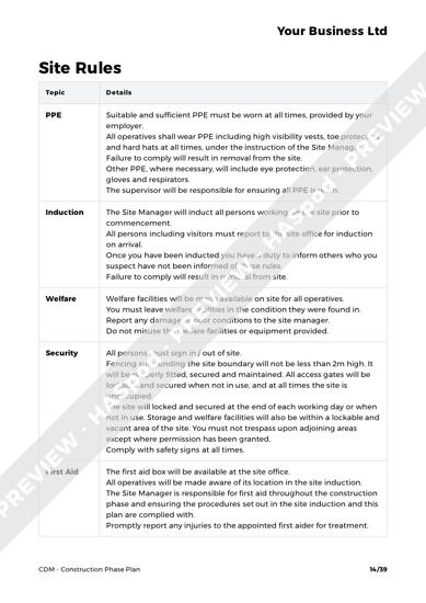CDM Construction Phase Plan image 6