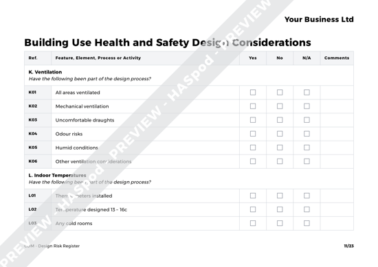 CDM Design Risk Register image 4