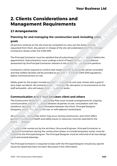 CDM Pre Construction Information image 4