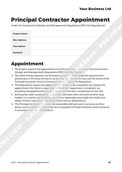 CDM Pack Principal Contractor image 4