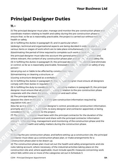 CDM Principal Designer Appointment image 2
