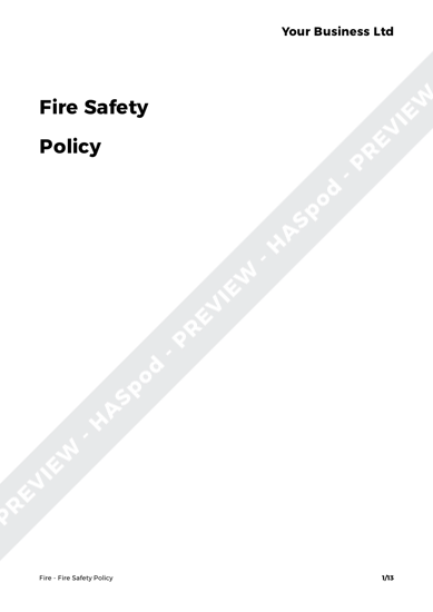 Fire Fire Safety Policy image 1