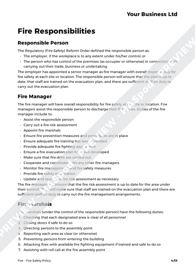 Fire Fire Safety Policy image 3