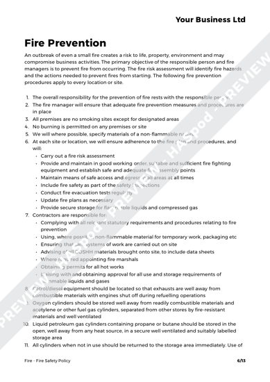 Fire Fire Safety Policy image 4