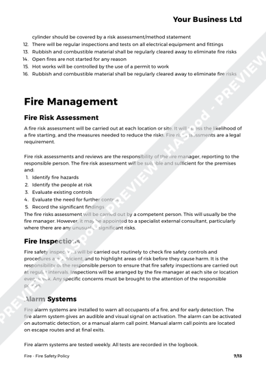 Fire Fire Safety Policy image 5