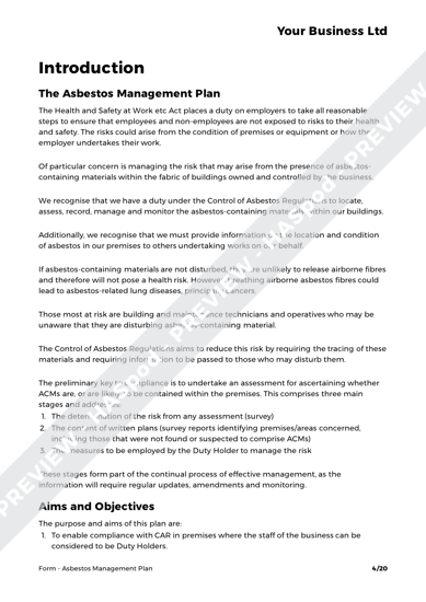 Form Asbestos Management Plan image 3