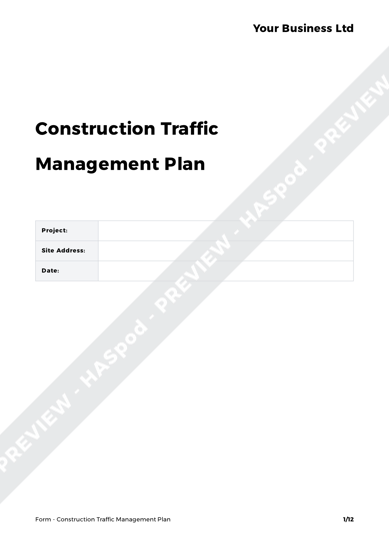 Construction traffic management plan form template haspod form construction traffic management plan image 1 maxwellsz