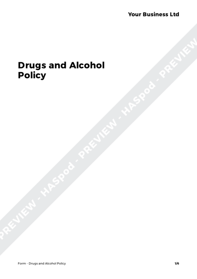 Form Drugs and Alcohol Policy image 1