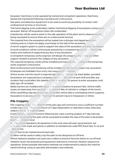 Method Statement Pile Cropping image 2