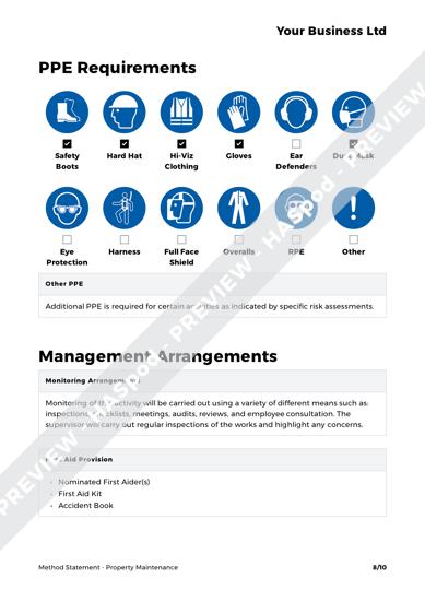 Property Maintenance Method Statement Template - HASpod