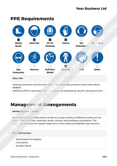 Method Statement Roadworks image 3