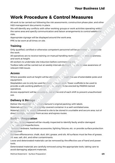 Method Statement Surface Preparation image 2