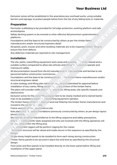 Method Statement Timber Frame image 2