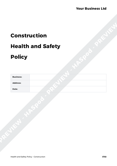 Health and Safety Policy Construction image 1
