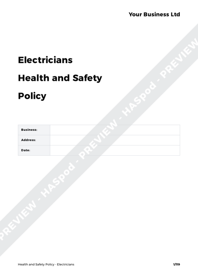 Health and Safety Policy Electricians image 1