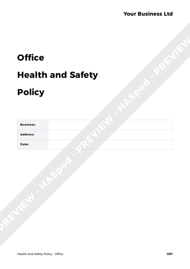 Health and Safety Policy Office image 1