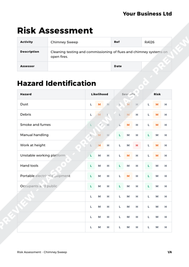 Risk Assessment Chimney Sweep image 1