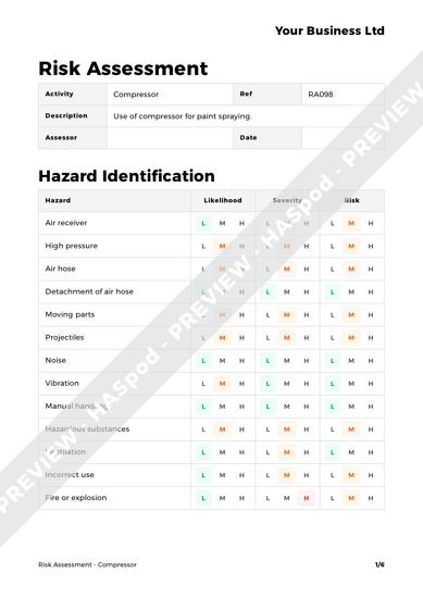 Risk Assessment Compressor image 1