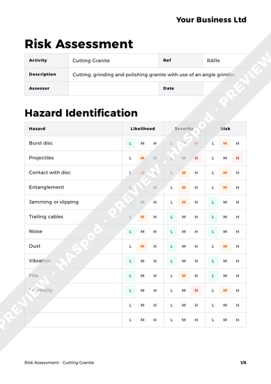 Risk Assessment Cutting Granite image 1