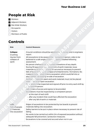 Risk Assessment Earthworks image 2
