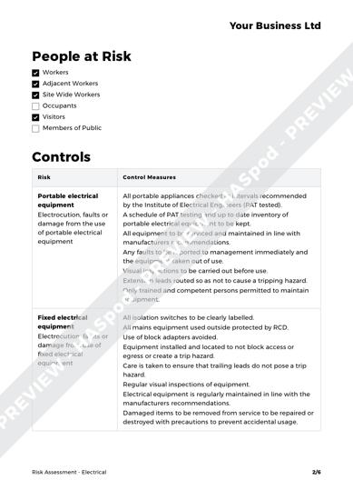 electricians risk assessment template - electrical risk assessment template haspod