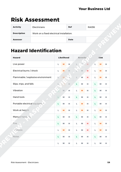Risk Assessment Electricians image 1