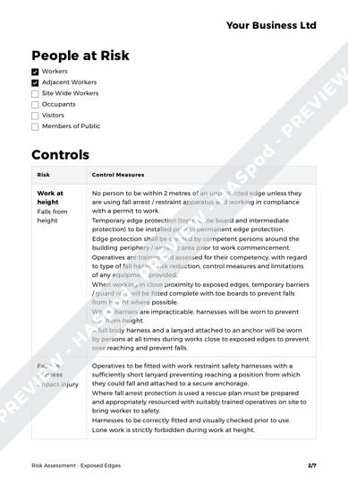 Risk Assessment Exposed Edges image 2
