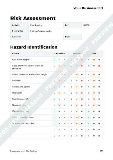 Risk Assessment Flat Roofing image 1