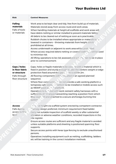 Risk Assessment Floor Construction image 2