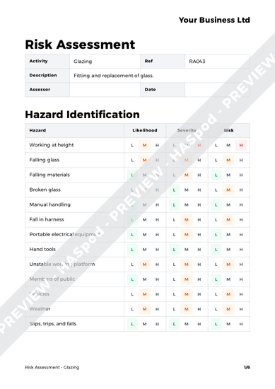 Risk Assessment Glazing image 1