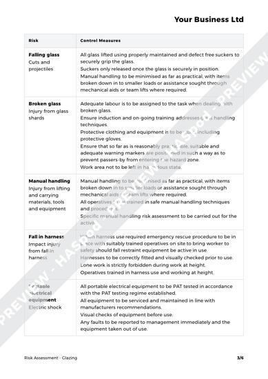 Risk Assessment Glazing image 2