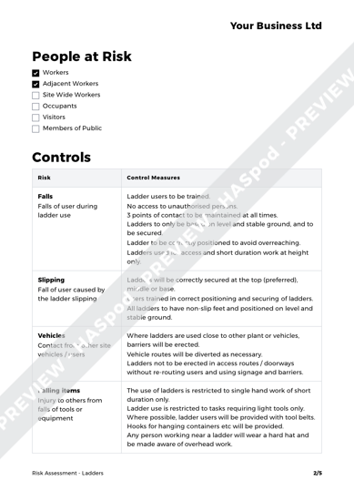 Risk Assessment Ladders image 2