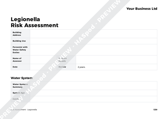 Risk Assessment Legionella image 1