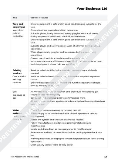 Risk Assessment Maintenance image 2