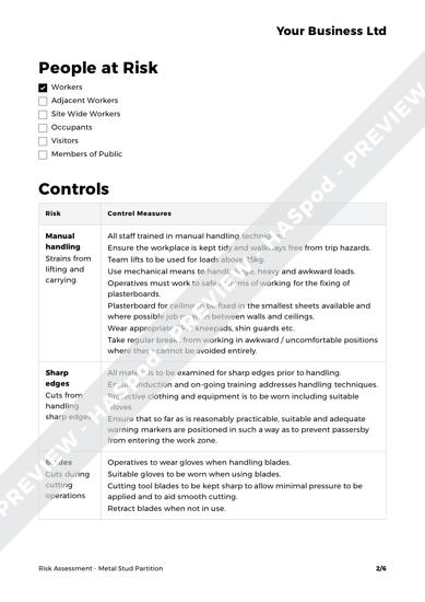 Risk Assessment Metal Stud Partition image 2