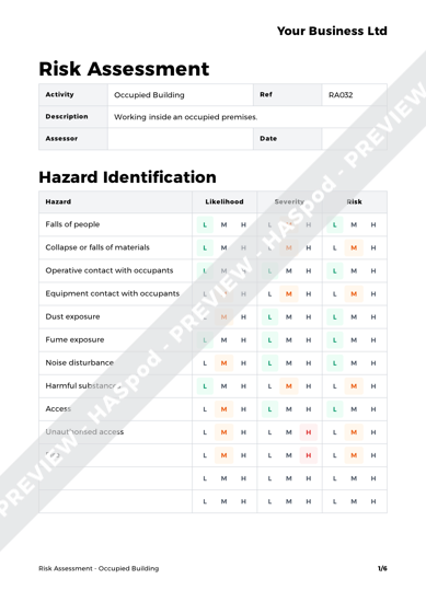 Risk Assessment Occupied Building image 1