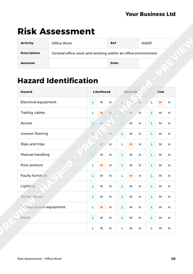 Risk Assessment Office Work image 1