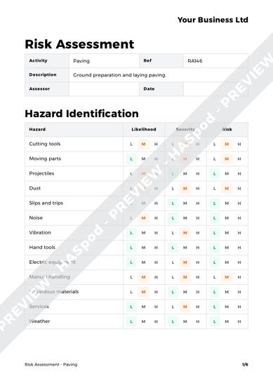 Risk Assessment Paving image 1