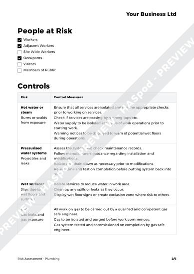 Risk Assessment Plumbing image 2