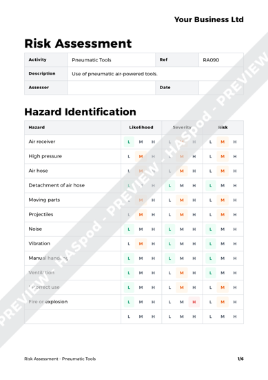 Risk Assessment Pneumatic Tools image 1