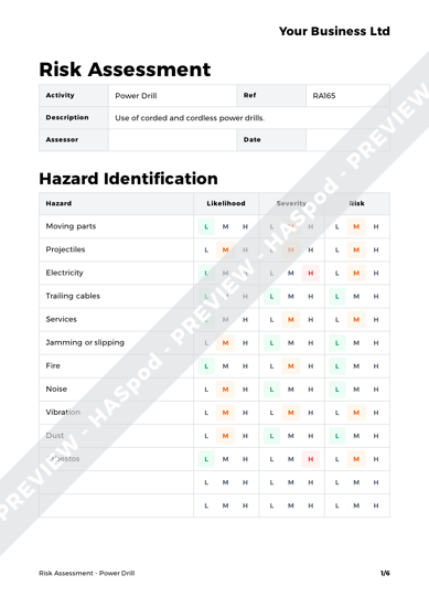 Risk Assessment Power Drill image 1