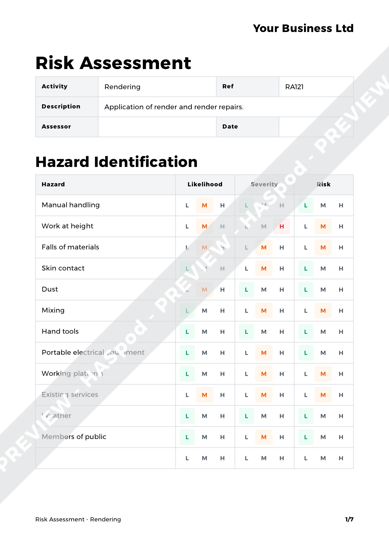 Risk Assessment Rendering image 1