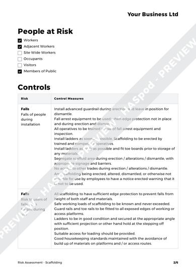 Risk Assessment Scaffolding image 2