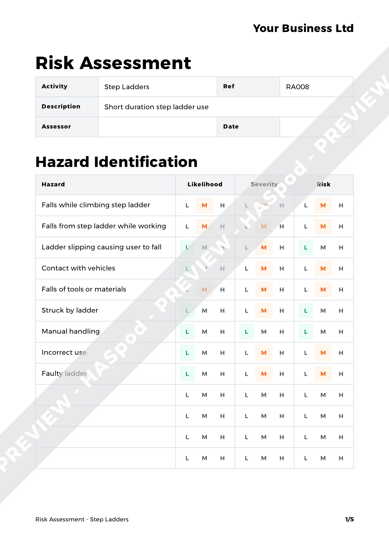 Risk Assessment Step Ladders image 1